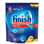 """Средство для посудомоечных машин Finish """"All in 1"""", с ароматом лимона, 65 таблеток (мягкая упаковка)"""