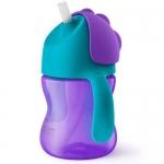 Поильник Avent с трубочкой 200 мл 9 мес+ фиолетовый