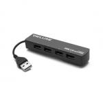 Расширитель USB, Deluxe, DUH4009B, Чёрный