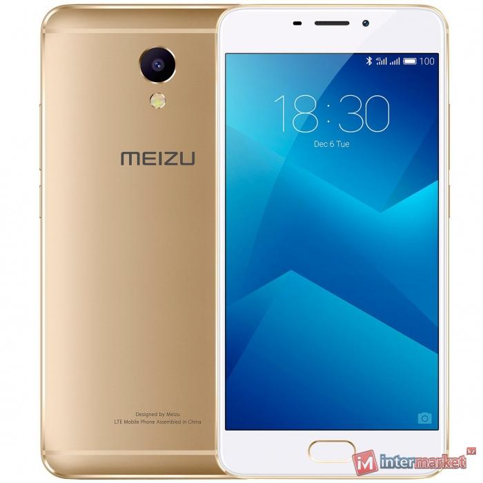 Смартфон Meizu M5 Note 16Gb, Gold