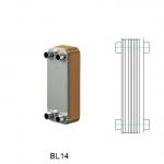 Теплообменник паяный Ditreex BL14-20D/2 (двухстороннее подключение)