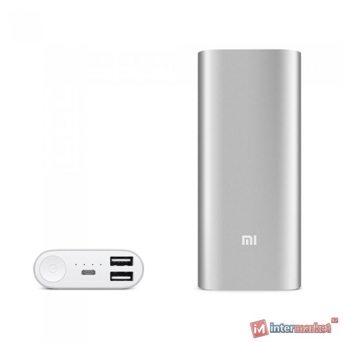 Зарядка для мобильных устройств универсальная с аккумулятором Xiaomi 16000, silver